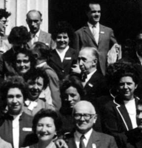 Ángel Cabrera en la foto de grupo del Primer Congreso Sudamericano de Zoología (La Plata, octubre de 1959)