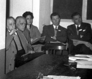 Cabrera y Willink en el Primer Congreso Sudamericano de Zoología (La Plata, 14 de octubre de 1959)