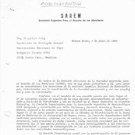 Circular de creación de la SAREM, 1983 (portada)