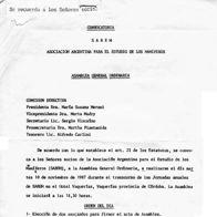 Convocatoria a Asamblea, 1987 (portada)