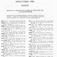 Directorio de Socios 1988 (portada)