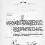 Invitación al Acto Inaugural de la SAREM, 1983 (portada)