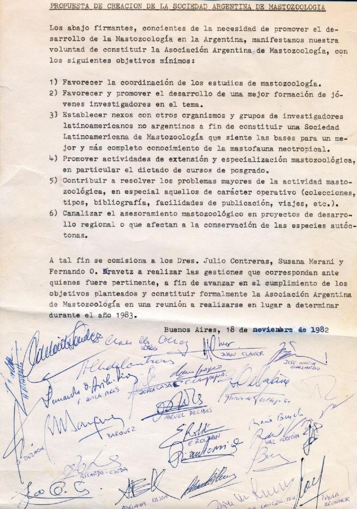 Propuesta de creación de la SAREM, 1982