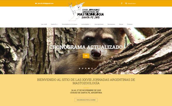 Página de inicio del sitio web de las XXVIII JAM
