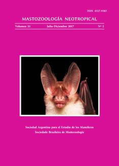 Tapa de Mastozoología Neotropical Vol.24 Nº2