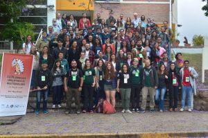 Foto grupal de las XXXI Jornadas Argentinas de Mastozoología (La Rioja, 2018)